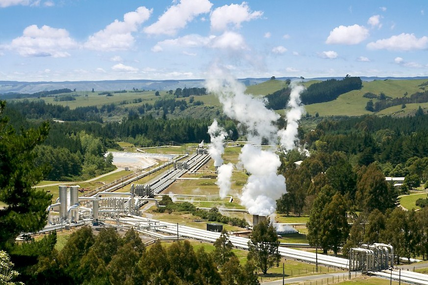 Геотермальная электростанция в Новой Зеландии