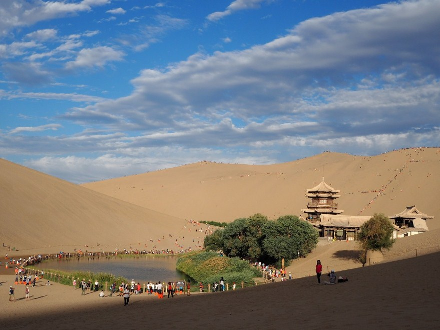 Пустыня, Crescent Bay, Китай