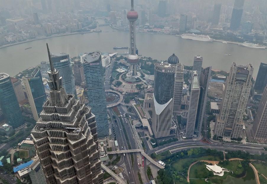 Смог в Шанхае, Китай