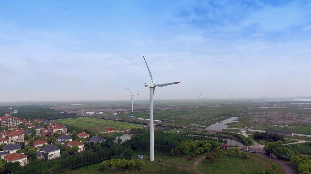 Ветротурбины в Шанхае, Китай