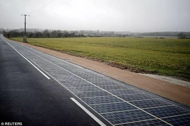 Дорога на солнечных батареях Франция