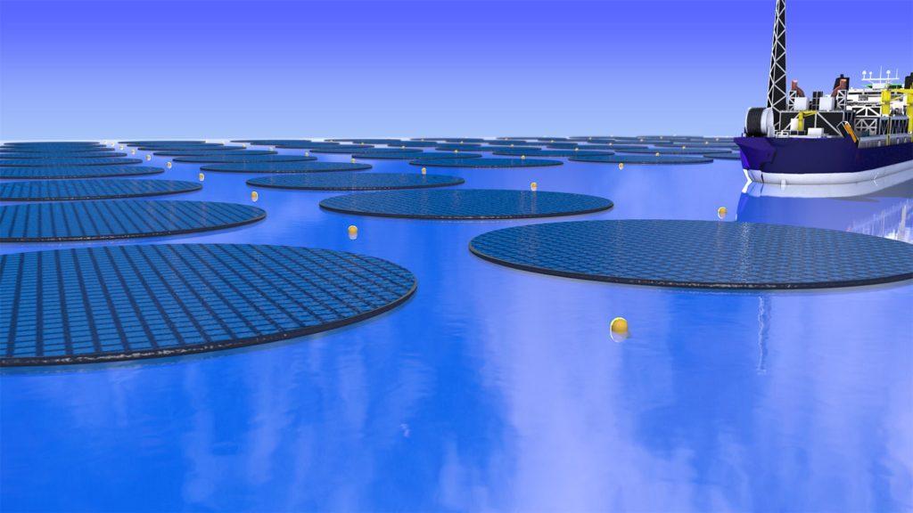 плавающие солнечные фермы в океане