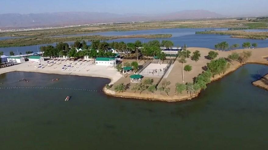 Озеро золотого века в Туркменистане