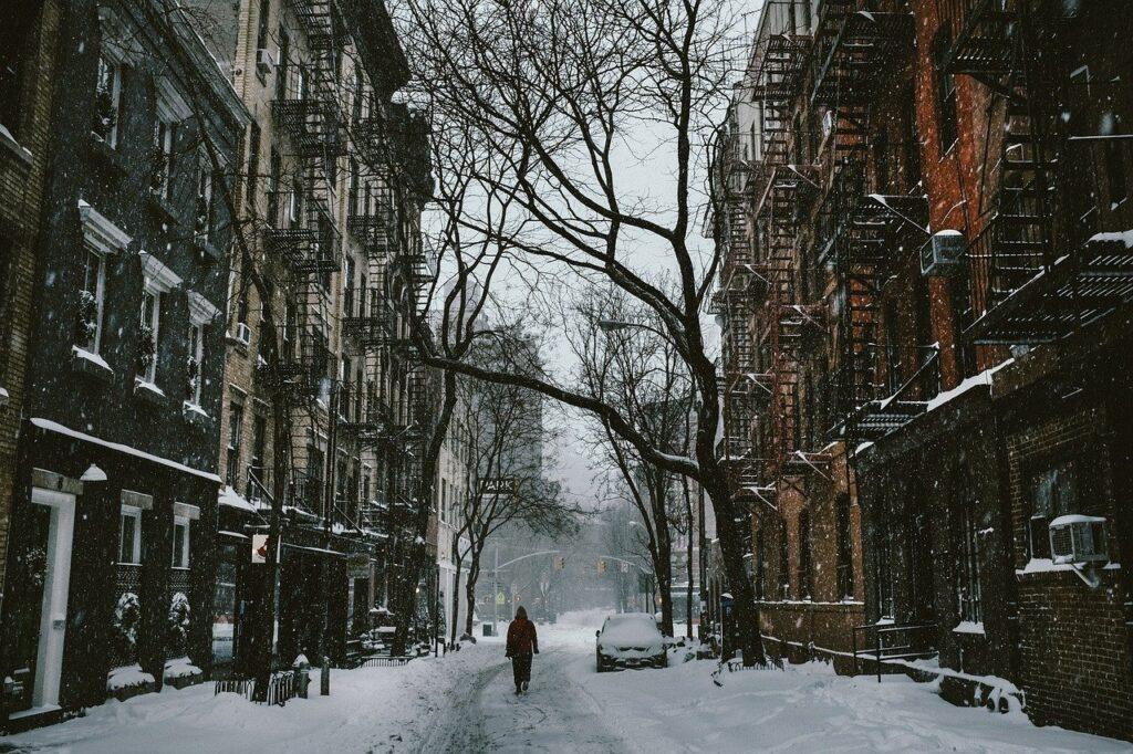 Прогулка зимой по улице